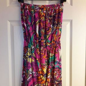 Multi Sea and Be Seen Windsor Strapless Dress